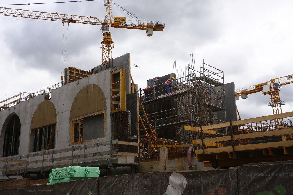 Das Gerber wächst in Stuttgart-Mitte: Wir haben einen Blick hinter die Baustellen-Kulisse an der Tübinger Straße geworfen ... Foto: www.7aktuell.de | Florian Gerlach