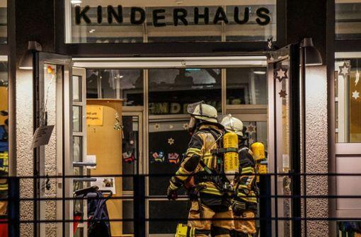 Hoher Schaden nach Feuer in Kindergarten