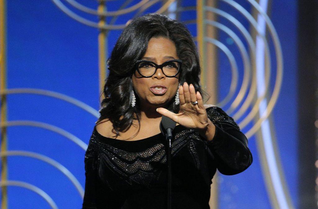 Oprah Winfrey hat die Menschen mit ihrer Rede anlässlich der Golden Globes beeindruckt. Foto: NBC
