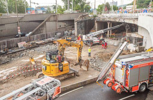Baustelle am Leuzetunnel  nach tödlichem Unfall gesperrt