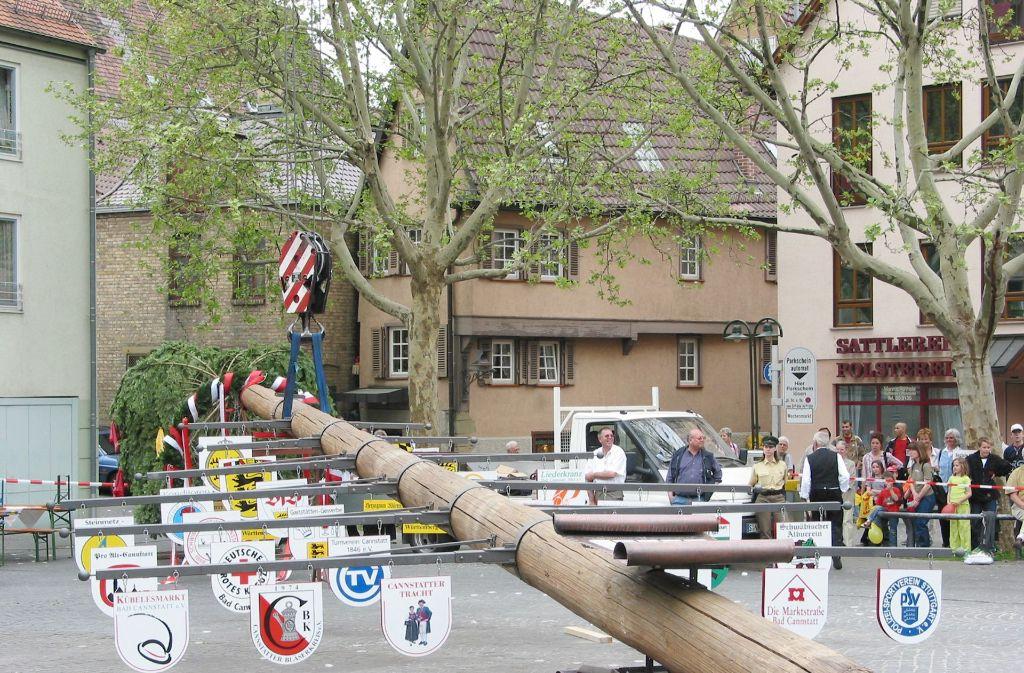 Am kommenden Sonntag und Montag findet das Maibaumfest statt. Foto: Archiv