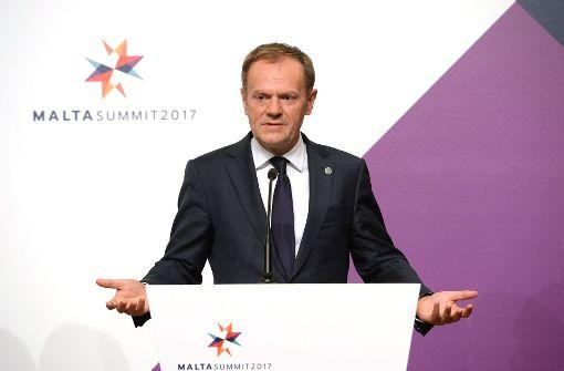 """Tusk pocht auf """"stabile transatlantische Beziehungen"""""""