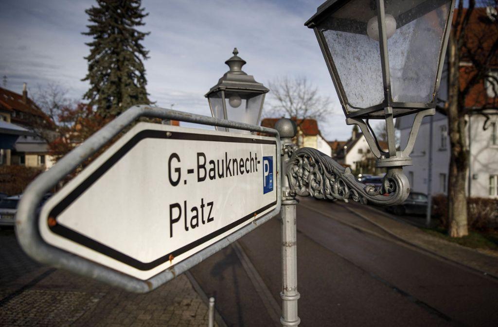 Aus einem Teil des Gottlob-Bauknecht-Platzes soll der Hermann-Schlotterbeck-Platz werden. Foto: /Gottfried Stoppel