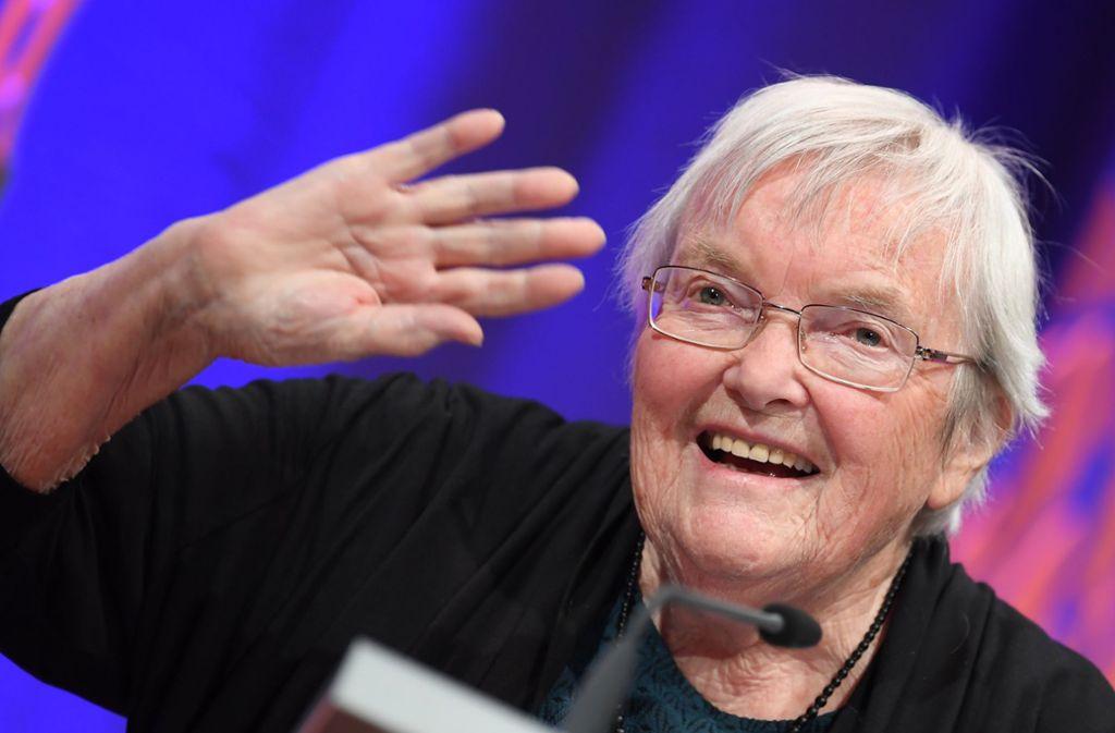 Die große alte Dame der Apokalypse: Gudrun Pausewang (1928–2020) Foto: dpa/Arne Dedert