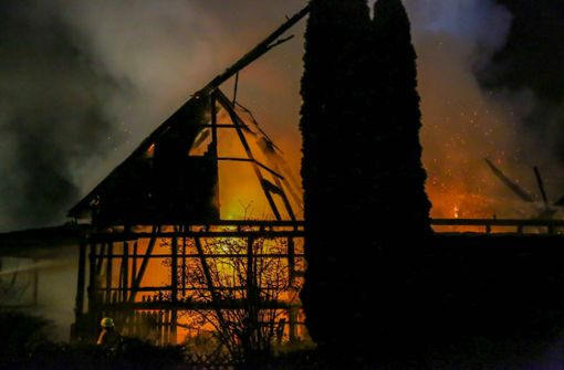 Wurde Kuhstall mit Böllern in Brand gesetzt?