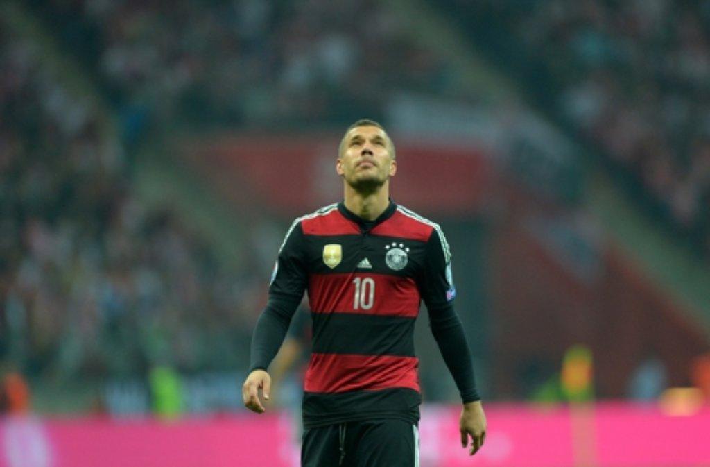 Enttäuscht: DFB-Spieler Lukas Podolski Foto: dpa