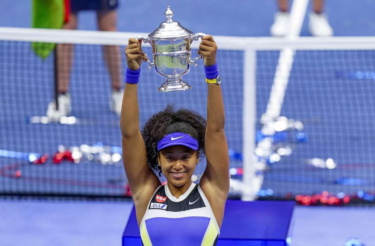 Naomi Osaka gewann die US Open. Foto: dpa/Frank Franklin II
