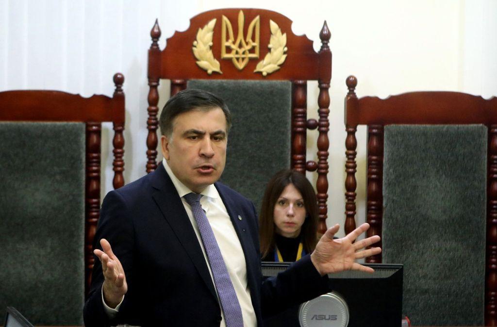 Michail Saakaschwili, ehemaliger Präsident von Georgien, wurde nach Polen abgeschoben. Foto: Ukrinform via ZUMA Wire