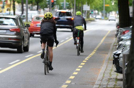Stadt plant zwei temporäre Radfahrstreifen