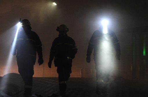 Feuerwehr übt im Fildertunnel