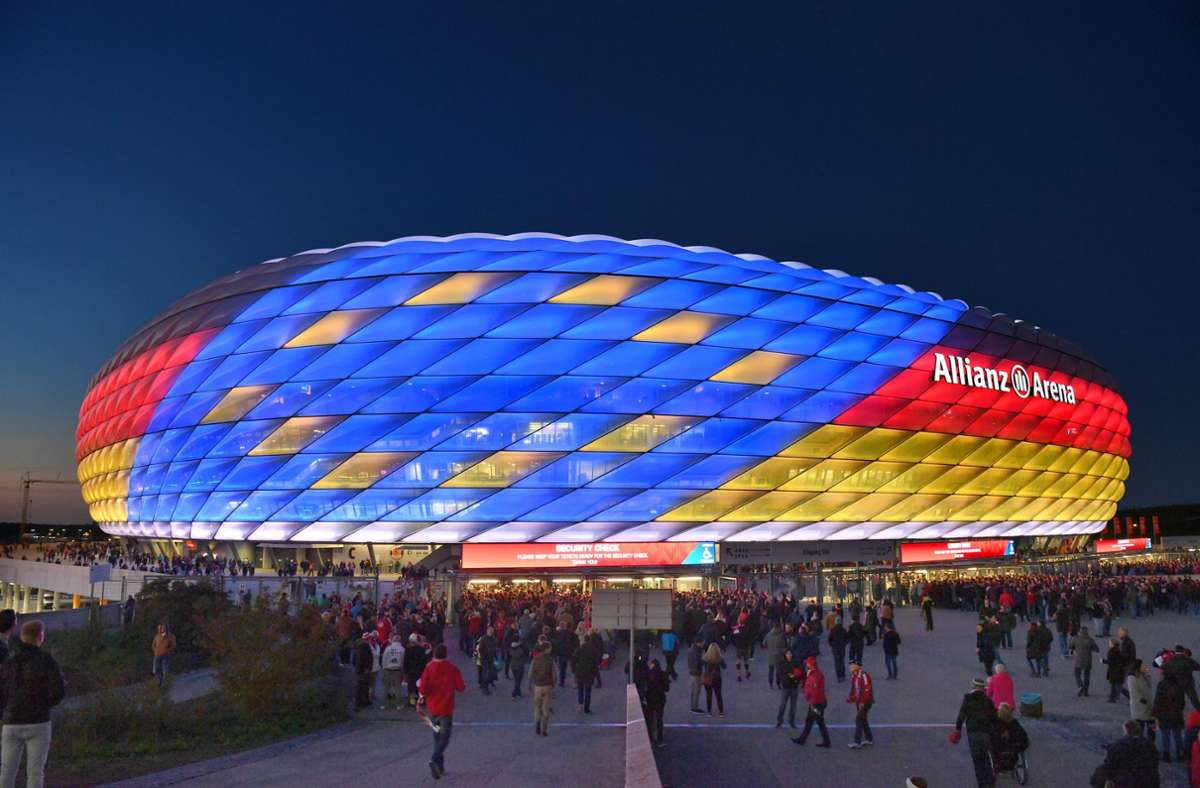München – Kapazität: 70 000, geplante Auslastung: 20 Prozent, voraussichtliche Zuschauerzahl: rund 14 000. Foto: imago/Sven Simon