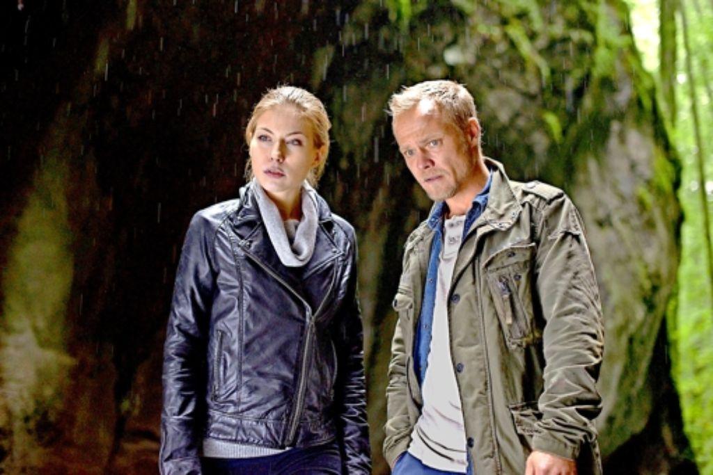 Das von Nora von Waldstätten und Matthias Koeberlin gespielte Ermittlerduo Foto: ZDF