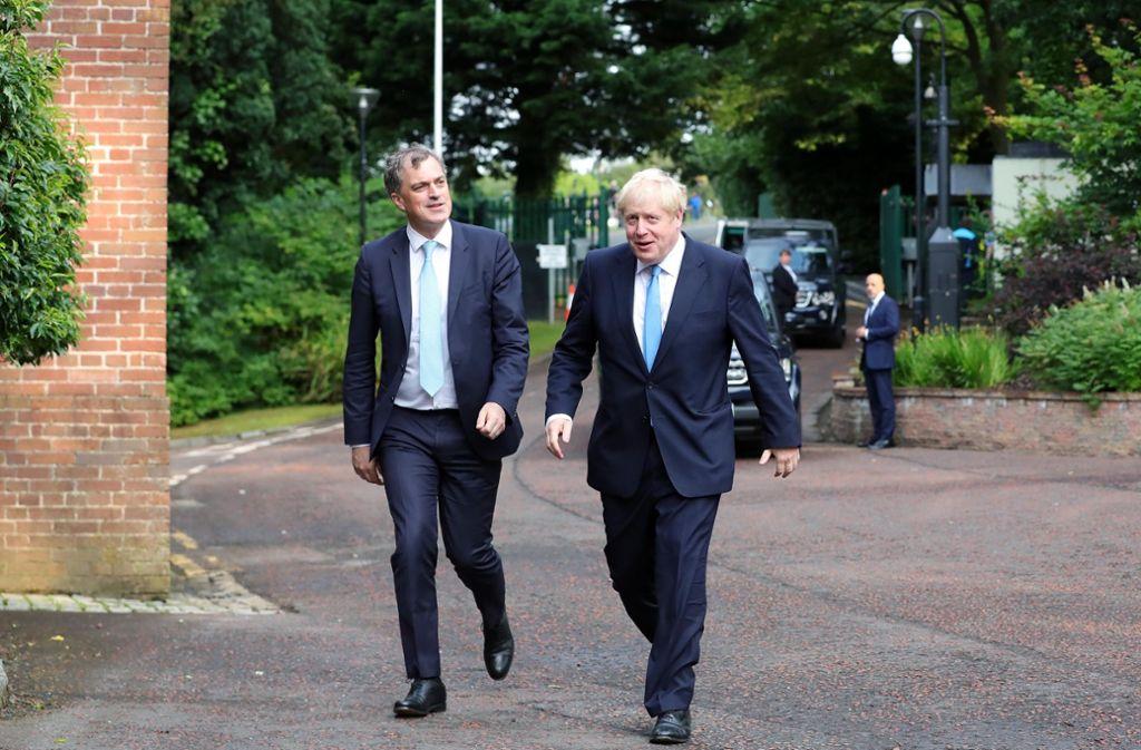 Bei seinem Antrittsbesuch in Nordirland gab es für Premierminister Boris Johnson Kritik. Foto: Getty Images