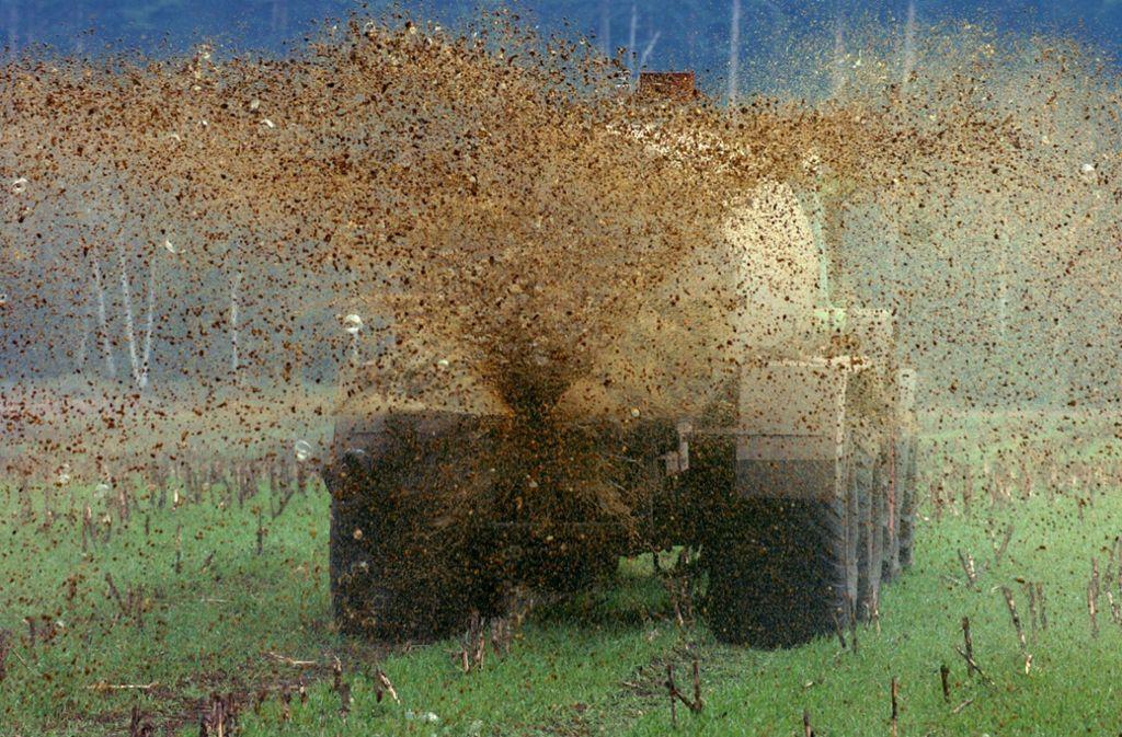 Der Landwirt gab an, er habe die Güllezeichen bereits Anfang September auf das Feld aufgebracht (Symbolbild). Foto: dpa