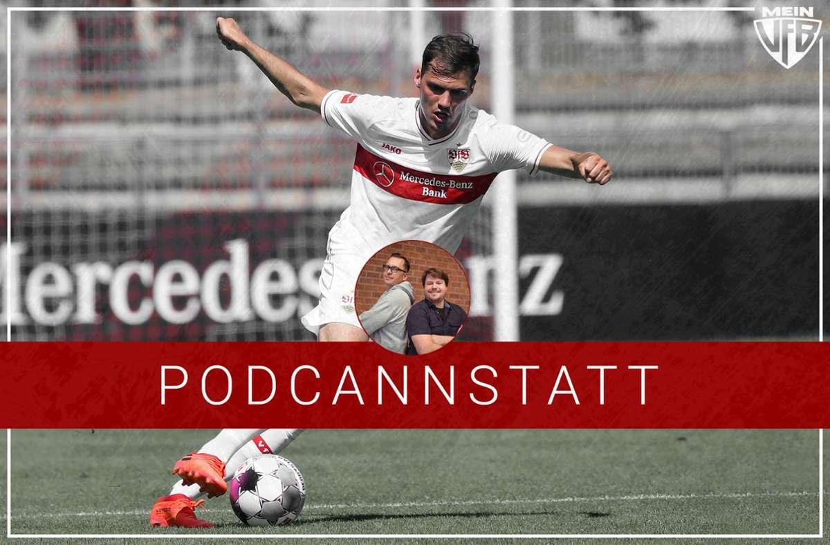 Pascal Stenzel und seine Bedeutung für das VfB-Spiel ist ein Kernaspekt der aktuellen Folge. Foto: StZN/Baumann