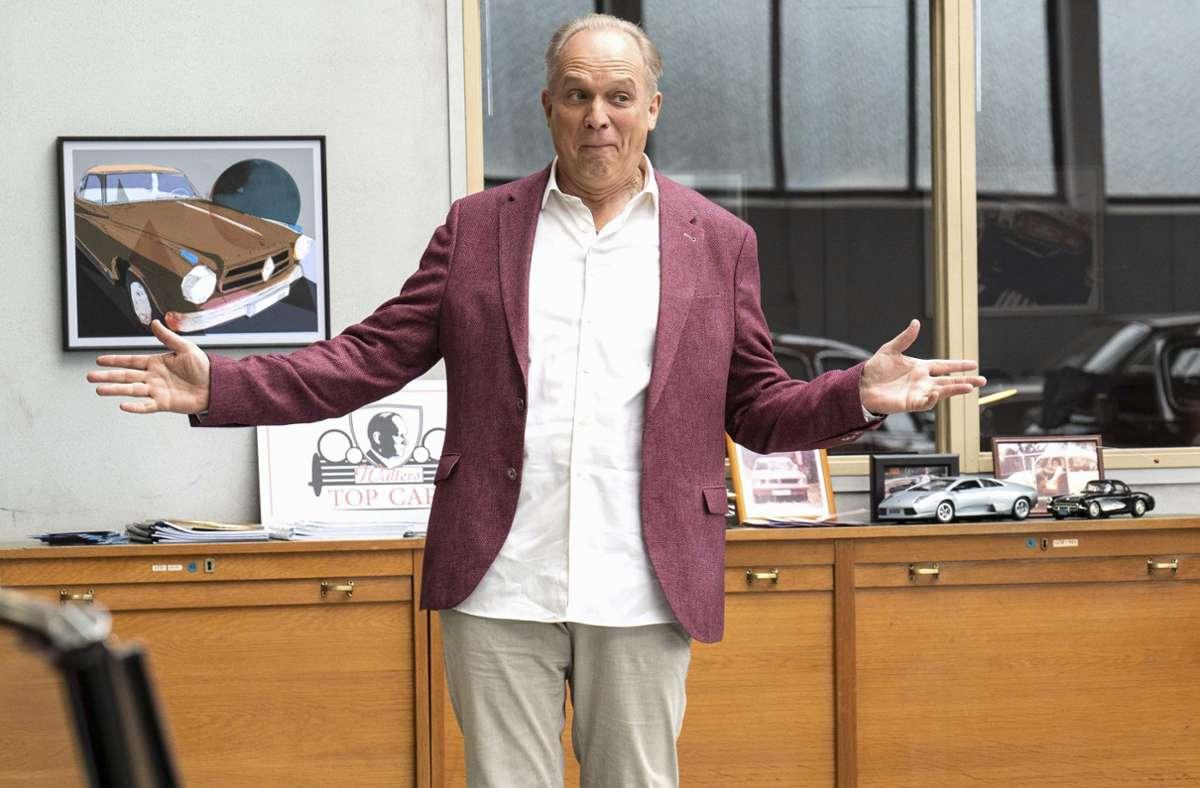 """Schauspieler Ulrich Tukur in einer Doppelrolle: Den """"Tatort"""" aus Hessen sahen am Sonntag mehr als acht Millionen Zuschauer. Foto: HR/Bettina Müller"""