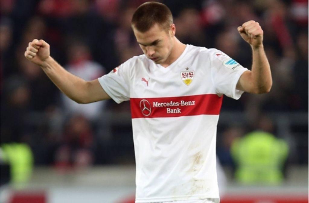 Toni Sunjic vom VfB Stuttgart hat noch Probleme in der Bundesliga.  Foto: dpa