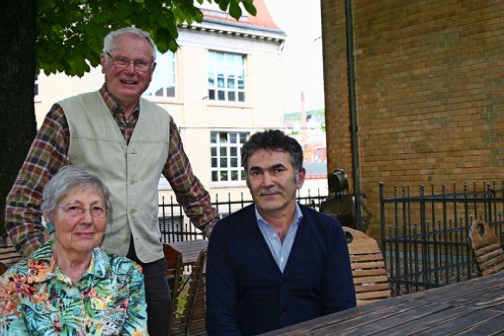 Vorbilder für gute Nachbarschaft: Sonja Wörtmann, Claus Sendler und Salman Gedik. Foto: Benjamin Schieler