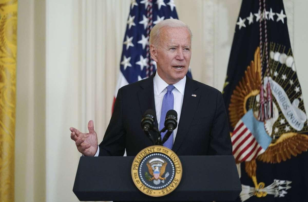 Biden will den Schutz kritischer Infrastruktur voranbringen (Archivbild). Foto: dpa/Andrew Harnik