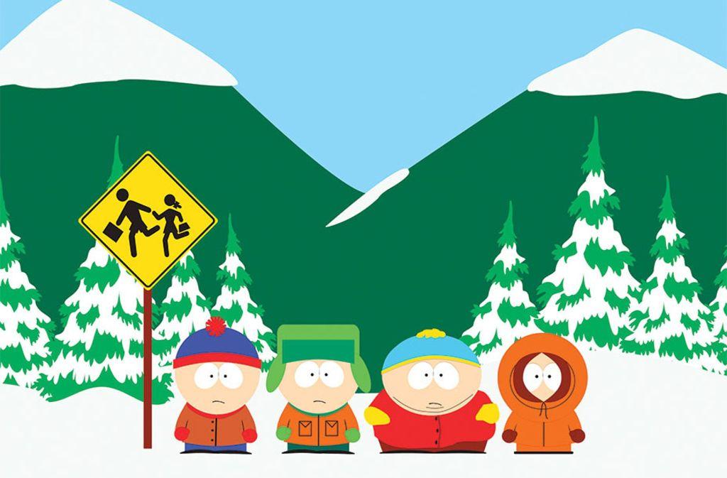 """Die """"South Park""""-Kernmannschaft: Stan, Kyle, Cartman und Kenny (von links) Foto: Comedy Central"""