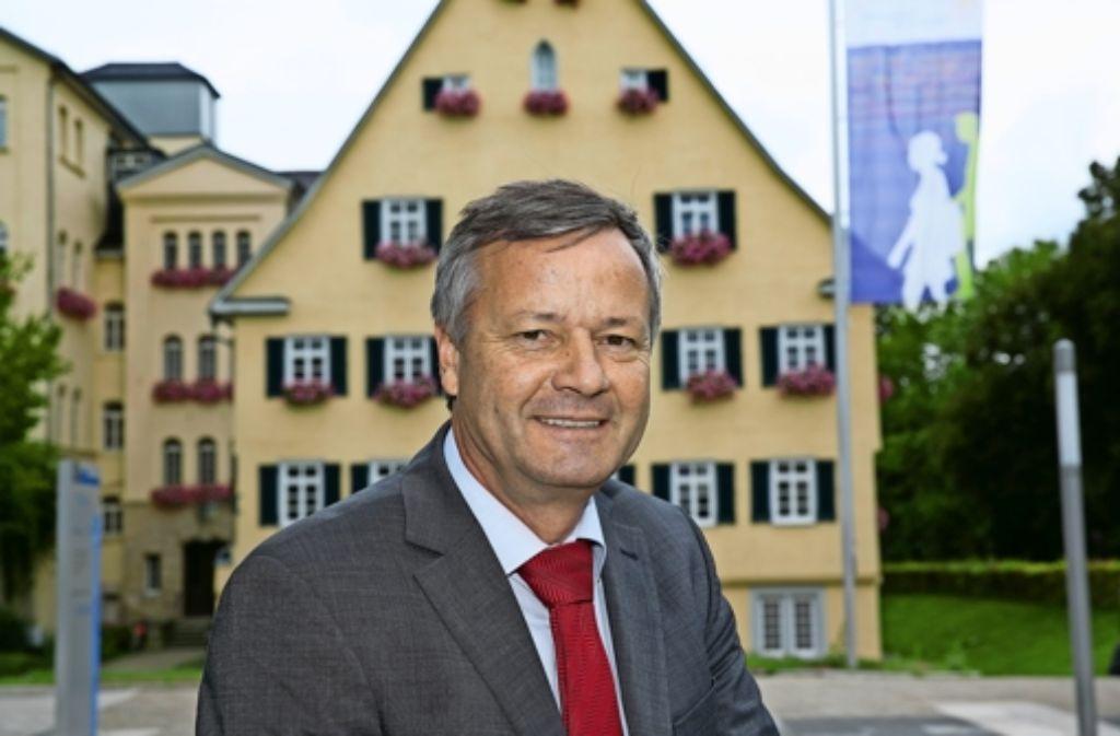 Christophsbad statt Bundestag: Klaus Riegert ist zufrieden mit seinem neuen Arbeitsplatz. Foto: Horst Rudel