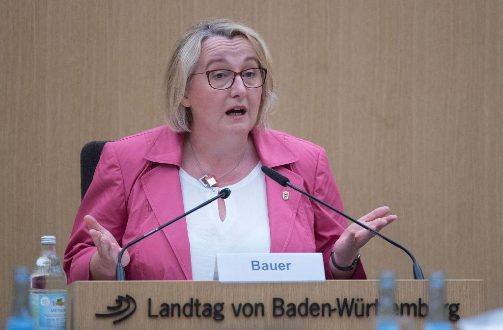 Zeugin im U-Ausschuss zur Ludwigsburger Zulagenaffäre: Ministerin Theresia Bauer Foto: dpa