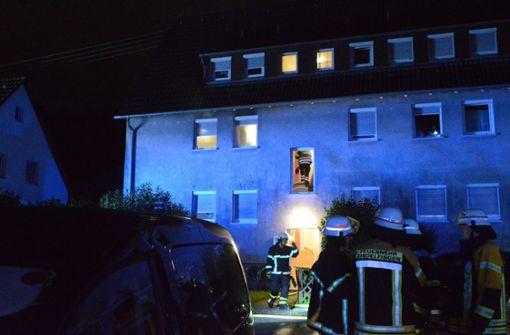 Föhn löst Brand in Mehrfamilienhaus aus