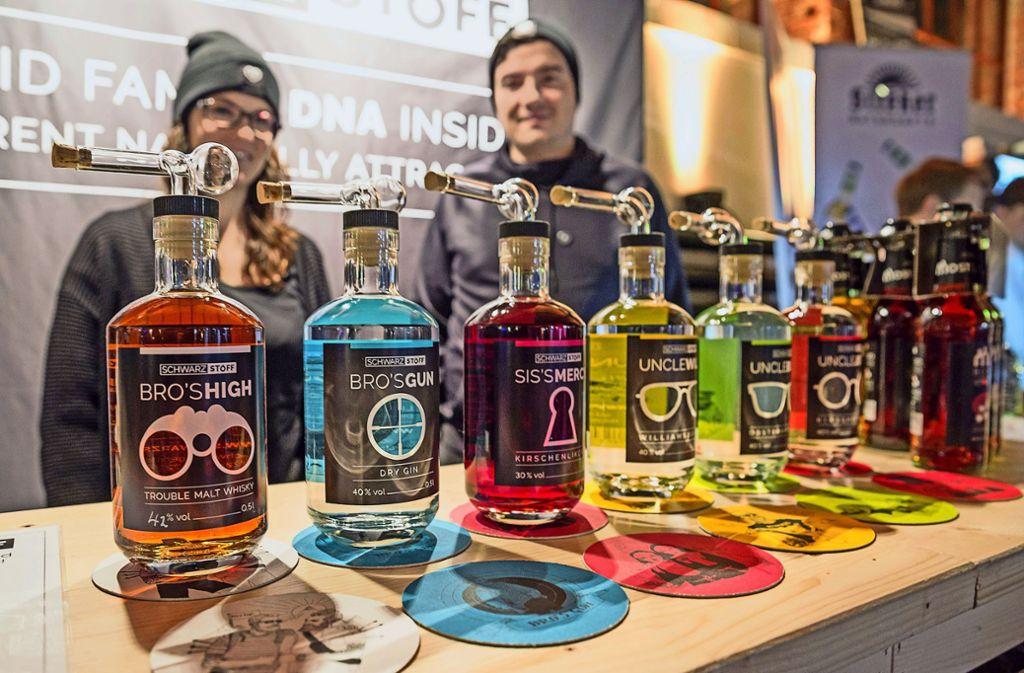 Auch eine Destille aus Tübingen liefert heimischen Gin. Foto: Lichtgut/Julian Rettig