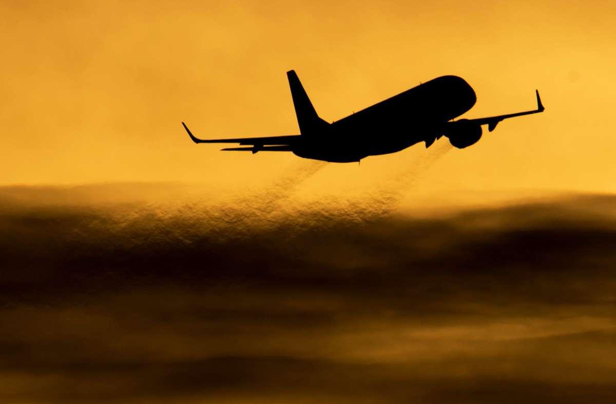 Sieht man derzeit seltener als vor Corona: Flugzeuge über Deutschland. (Archivbild) Foto: picture alliance / dpa/Julian Stratenschulte