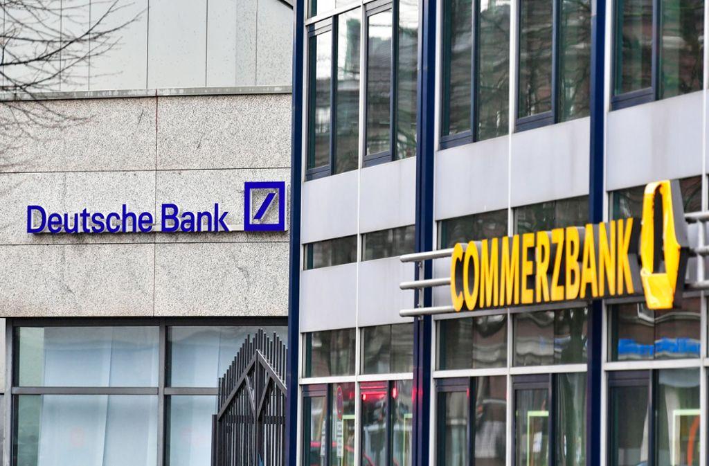 Die Deutsche Bank und die Commerzbank wollen fusionieren. Foto: dpa