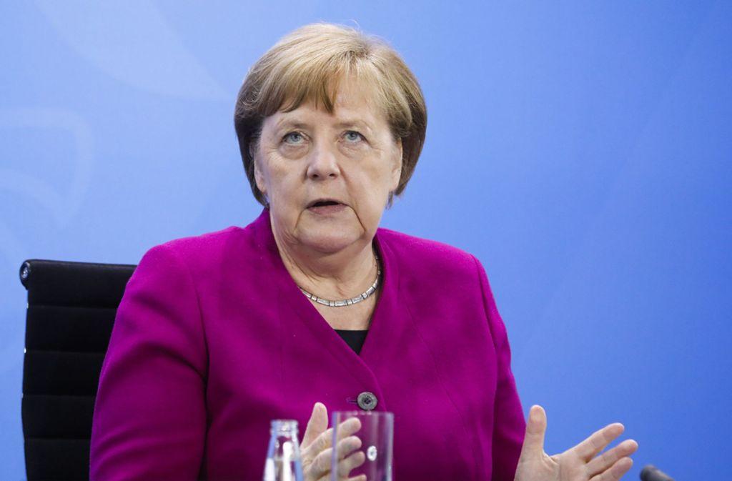 Angela Merkel fand am Mittwoch mahnende Worte bezüglich der Corona-Pandemie. Foto: dpa/Markus Schreiber