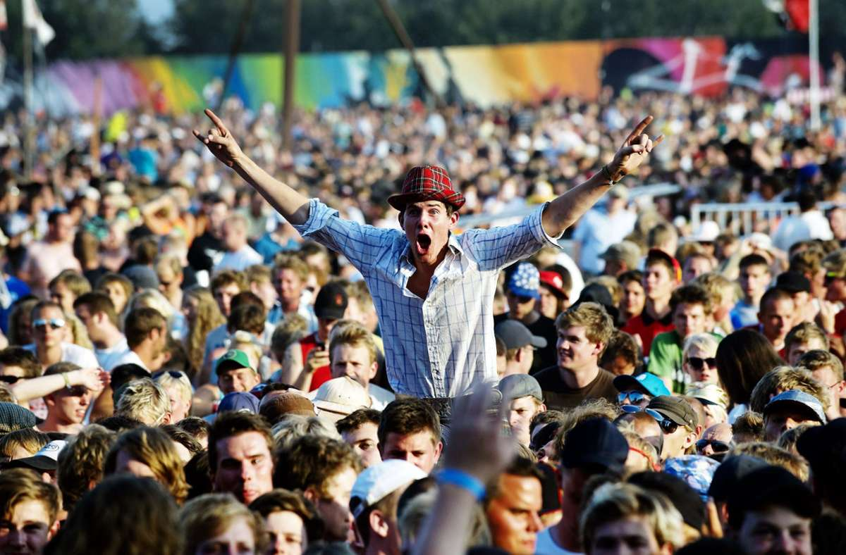 Volles Haus beim Roskilde-Festival in Dänemark – aber nicht in diesem Jahr. Foto: dpa/Rockphoto