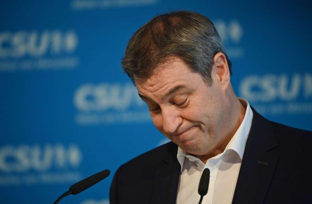 Markus Söder hat aufgegeben: Er bewirbt sich nicht mehr um die Kanzlerkandidatur der Union. (Archivbild) Foto: dpa/Peter Kneffel
