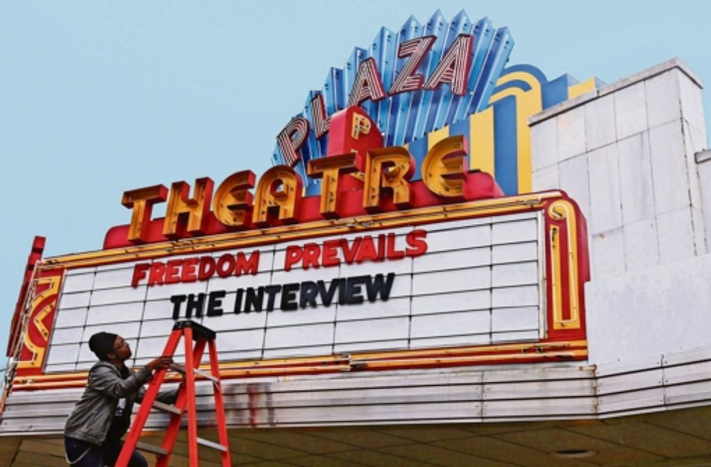 """Dann doch in den Kinos der USA zu sehen: die umstrittene Satire  """"The Interview"""". Foto:"""