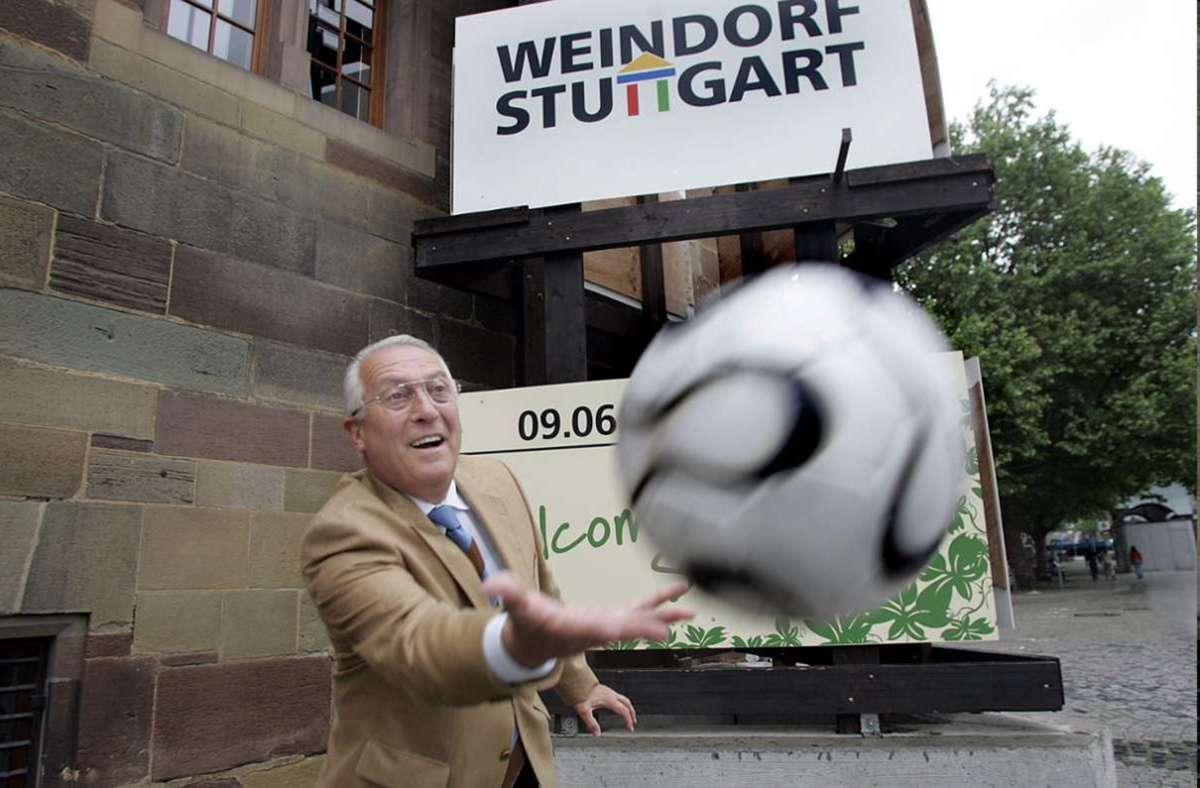 """Rainer Hofmeister war ein Mann voller Energie. """"Wenn ich ebbes mach', mach ich's richtig"""", sagte der Weindorf-Organisator über sich selbst. Er ist Anfang Dezember 2020 im Alter von 78 Jahren gestorben. Foto: Leif Piechowski"""