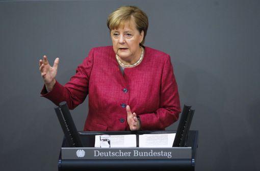 Angela Merkel redet der  Nation ins Gewissen