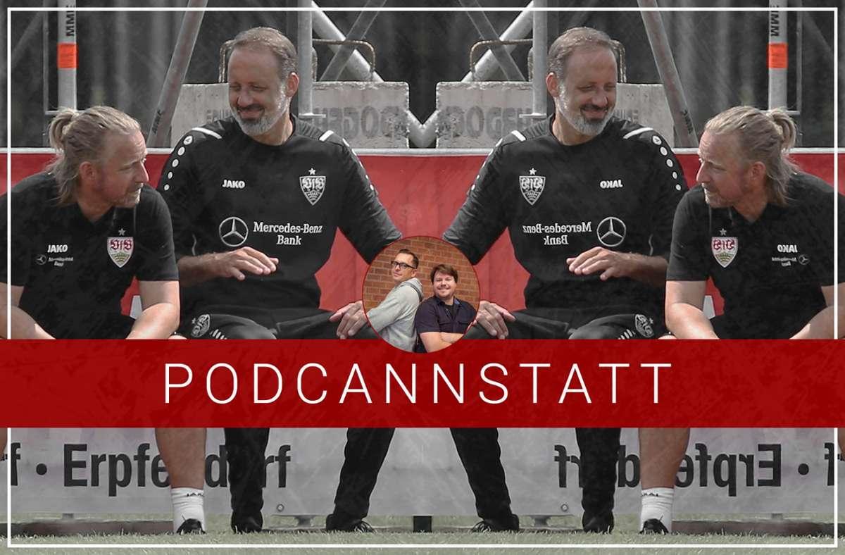 Sven Mislintat und Pellegrino Matarazzo sind Thema im Podcast zum VfB Stuttgart. Foto: StZN/Baumann