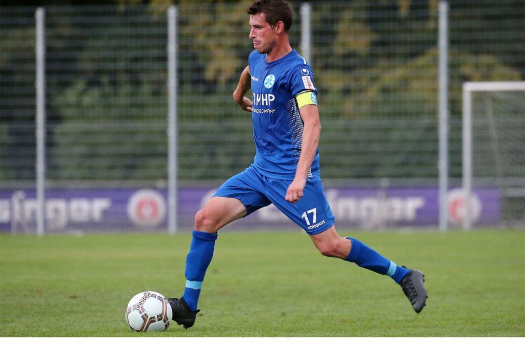 Erfahrener Mann im Kickers-Dress: Josip Landeka. Foto: Baumann