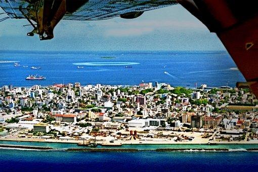 Die maledivische Hauptstadt Male ist extrem dicht besiedelt Foto: dpa