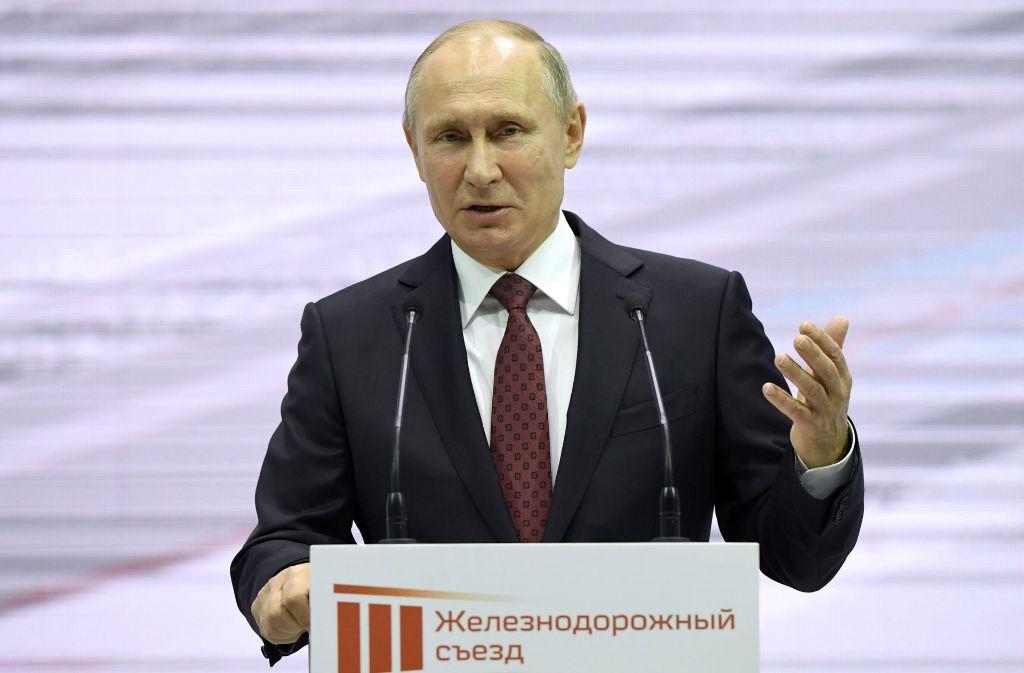 Russlands Staatschef Wladimir Putin will bei der Präsidentschaftswahl im März 2018 erneut antreten. Foto: POOL