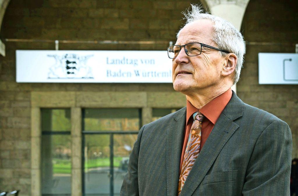 Bernd Grimmer will  ein sympathisches Gesicht seiner  Partei sein. Foto: Lichtgut/Achim Zweygarth