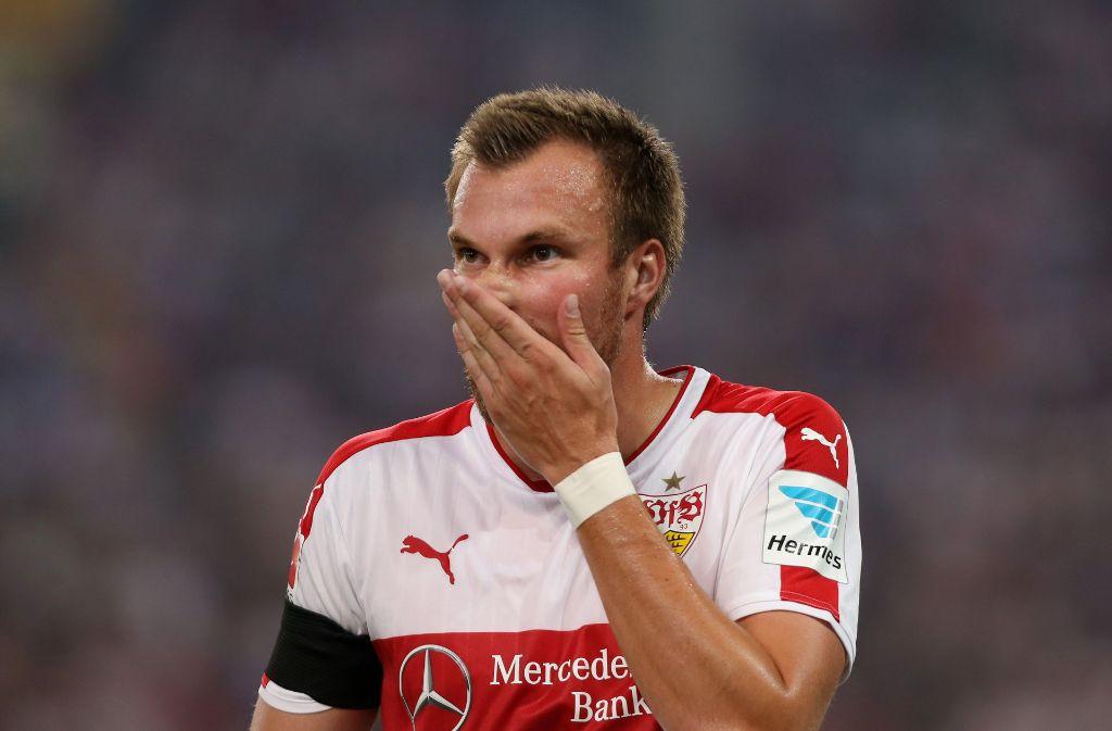 Au backe: Kevin Großkreutz zählt nicht mehr zum Team des VfB Stuttgart. Foto: Baumann