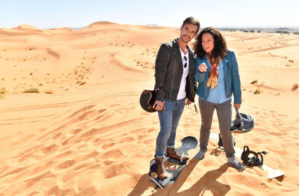 """Das ZDF-""""Traumschiff"""" mit Kapitän Florian Silbereisen steuert Marokko an. Foto: dpa/Dirk Bartling"""