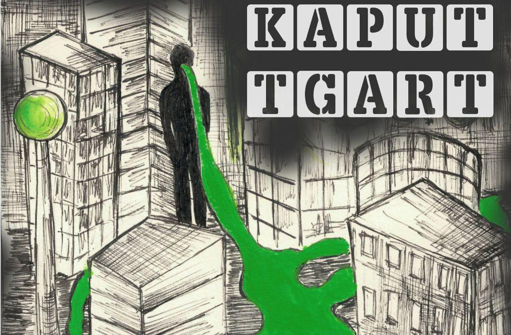 "Ein Ausschnitt vom Cover des Stuttgarter Punk-Samplers ""Kaputtgart"" Foto: Noise Massacre Shows"
