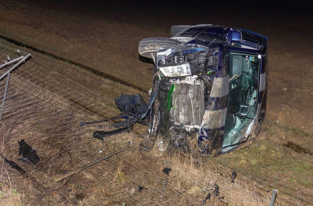 Der 22-Jährige zog sich bei dem Unfall Verletzungen zu. Foto: 7aktuell.de/Daniel Jüptner