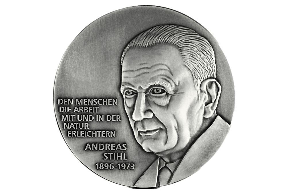 Andreas Stihl als Hochrelief Foto: