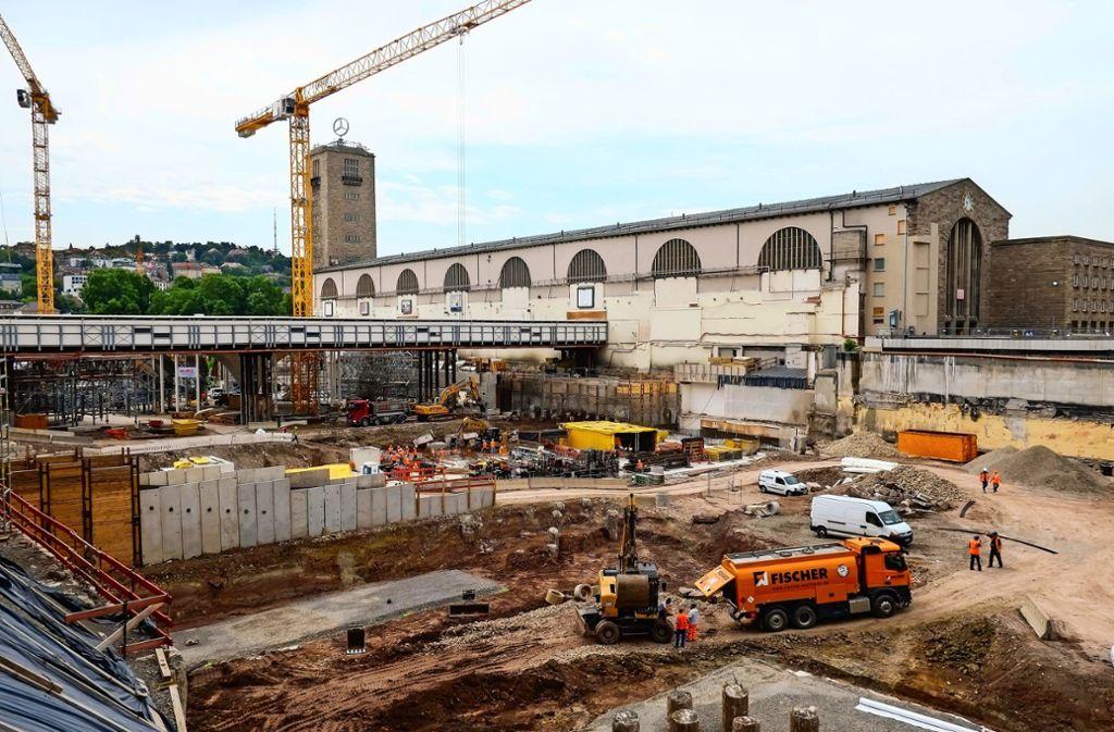 Die Großbaustelle für den neuen Tiefbahnhof. Foto: Lichtgut/Max Kovalenko