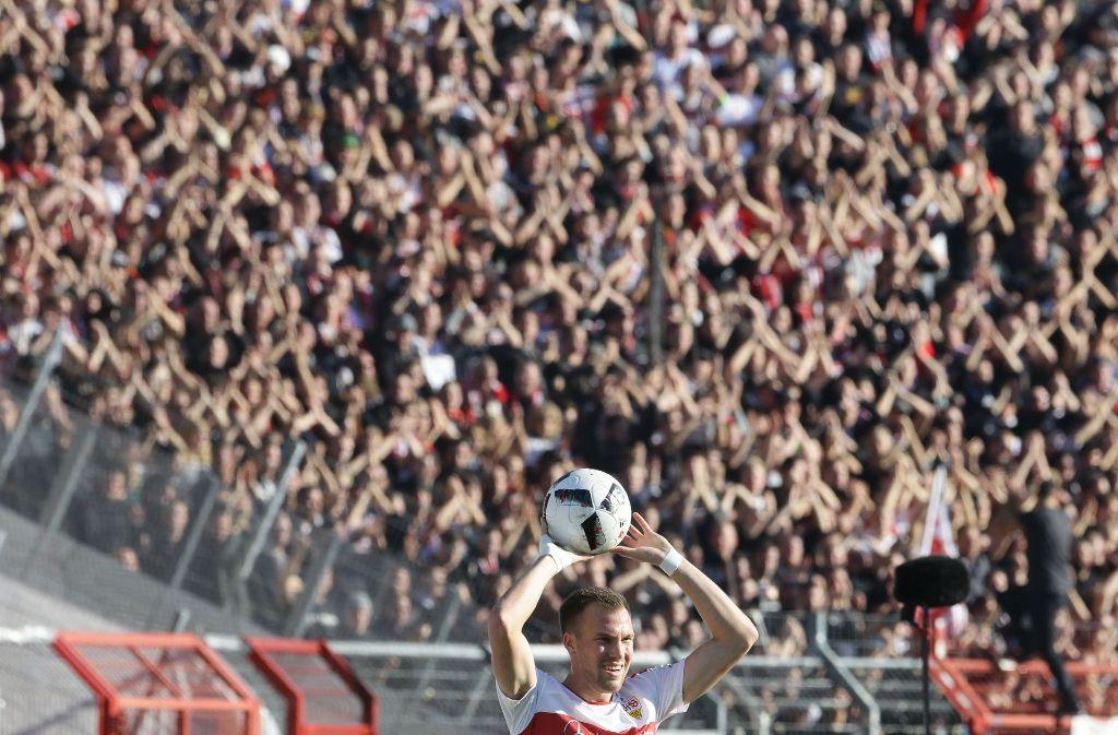 Hat die VfB-Fans nach wie vor im Rücken: Kevin Großkreutz. Foto: Pressefoto Baumann