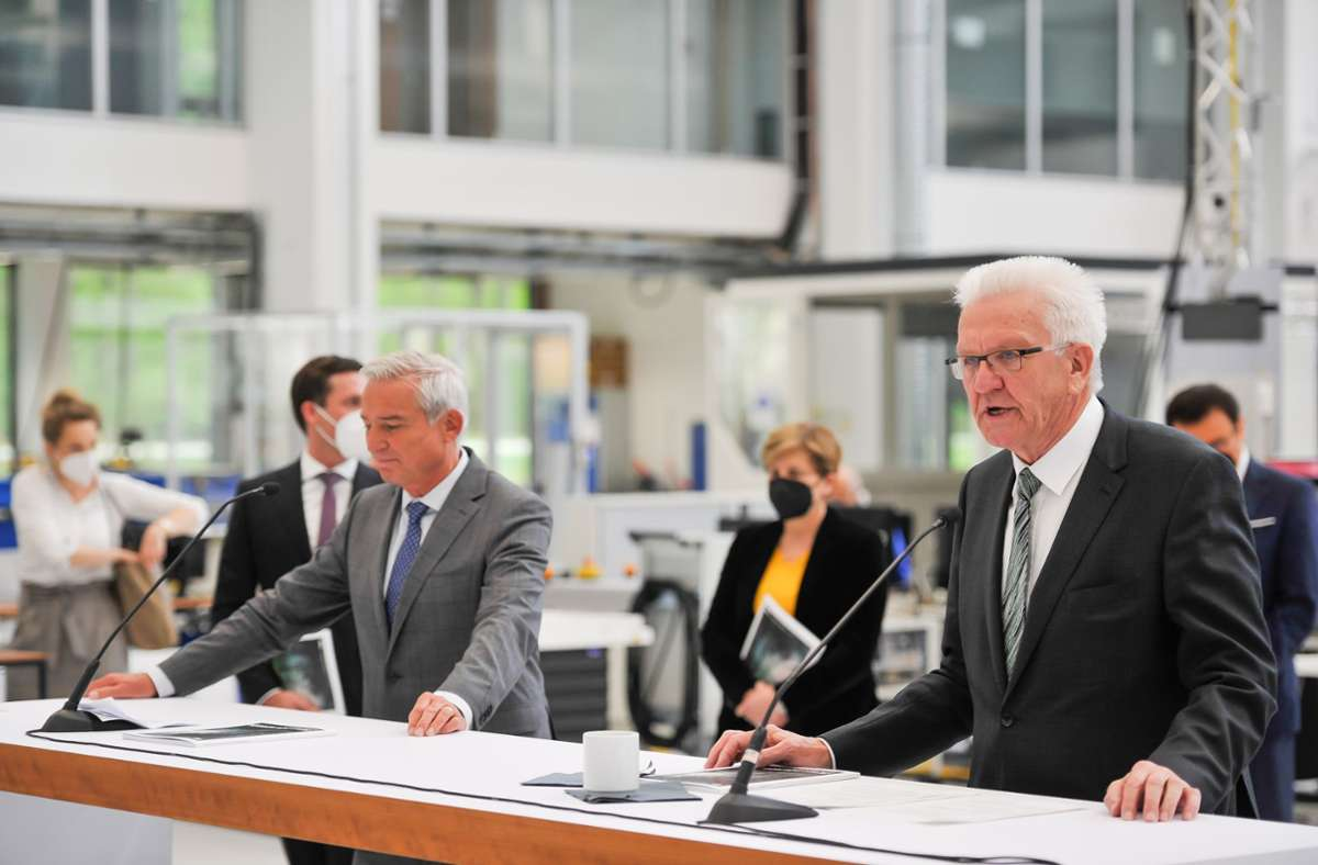 Die CDU um Thomas Strobl und die Grünen um Winfried Kretschmann wollen künftig einen Fokus auf Umwelt- und Energietechnologien legen. Foto: Lichtgut/Max Kovalenko