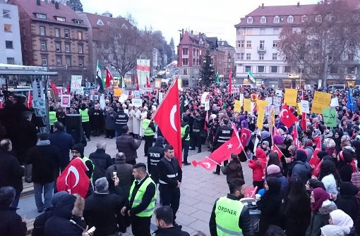 Aufstehen für Aleppo auf dem Marienplatz